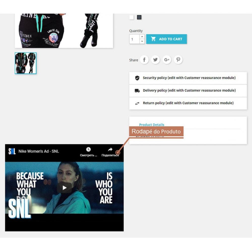 module - Vídeos & Música - Product Videos - Youtube / Vimeo - 2