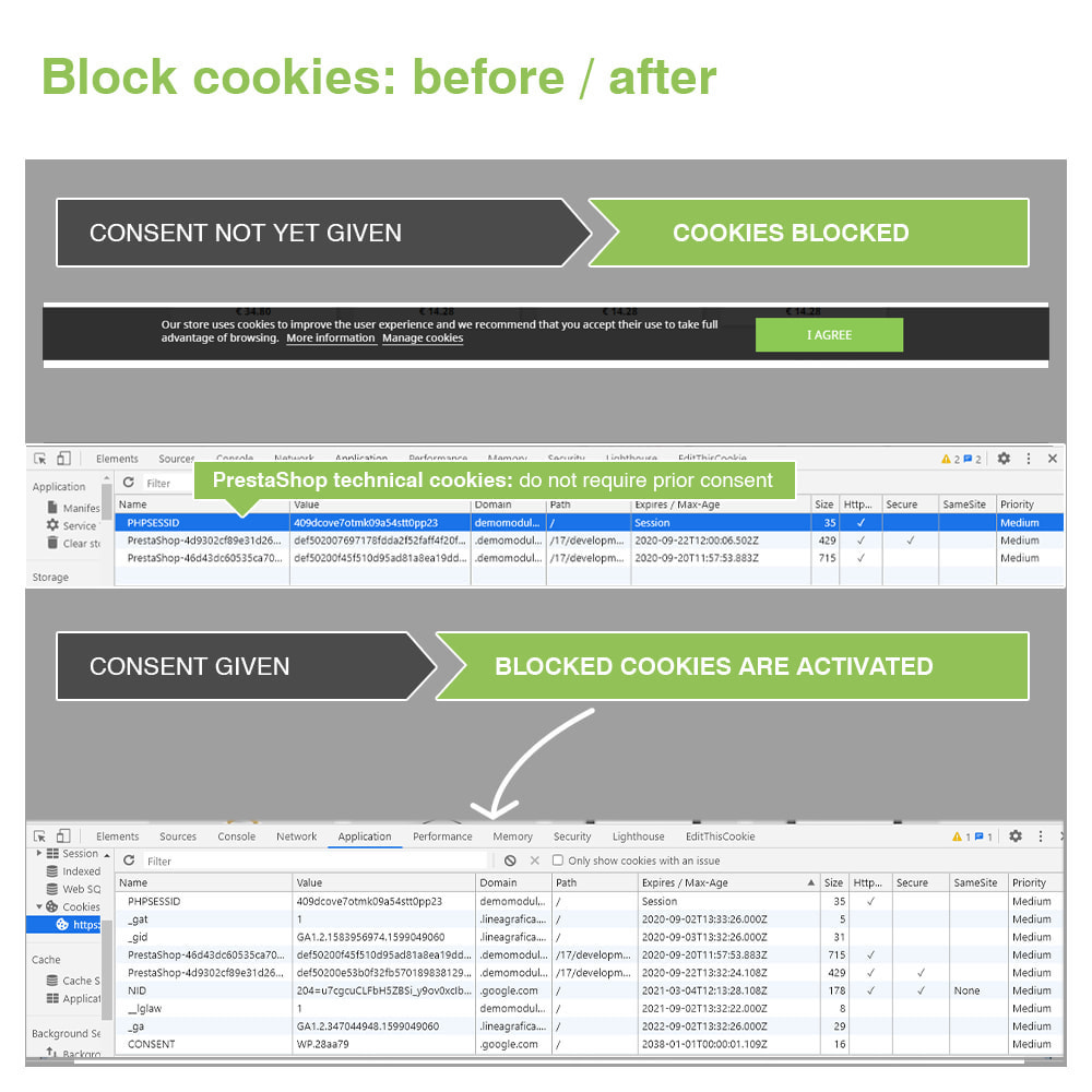 module - Legal - EU Cookie Law GDPR (Banner + Blocker) - Update 2021 - 19