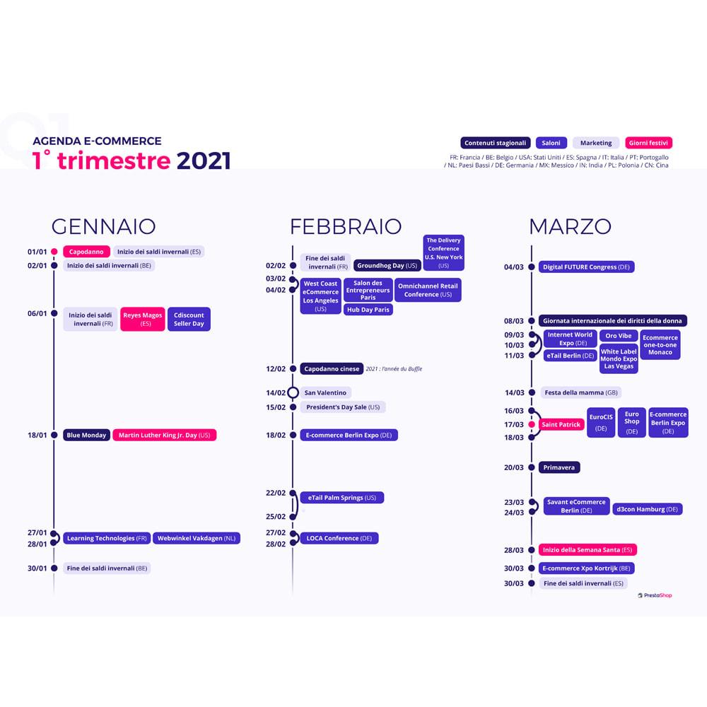 other - eCommerce Kalender - E-Commerce-Kalender 2021 (Italienisch) - 2