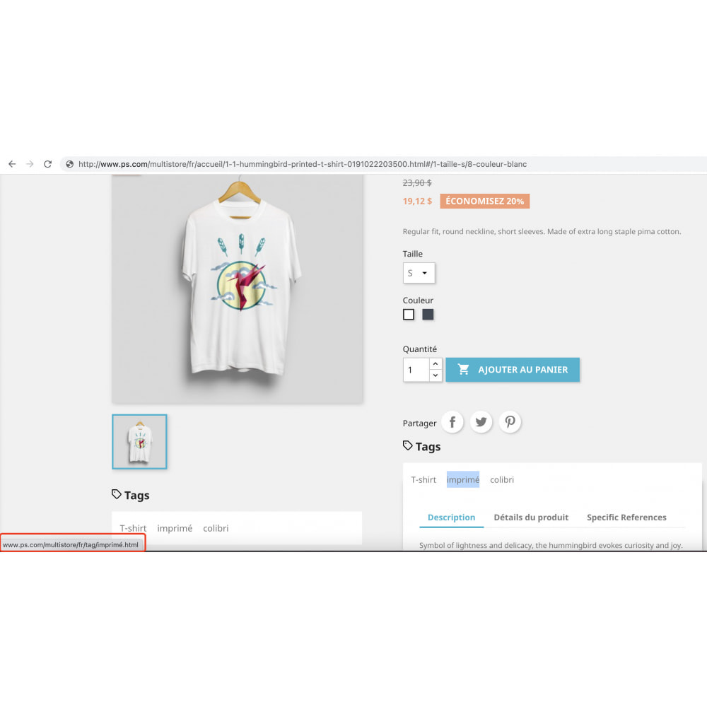 module - Дополнительной информации и вкладок товара - Advanced Product Tags Pro | SEO internal link promotion - 7