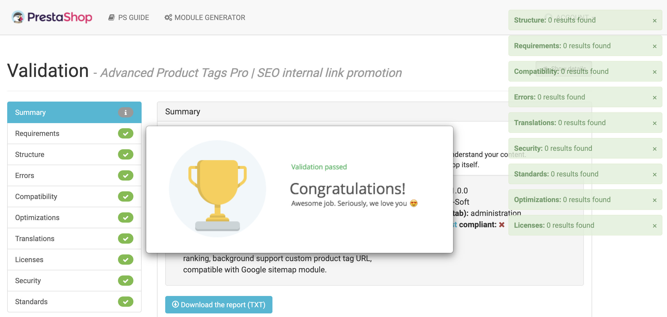 module - Additional Information & Product Tab - Advanced Product Tags Pro | SEO internal link promotion - 11