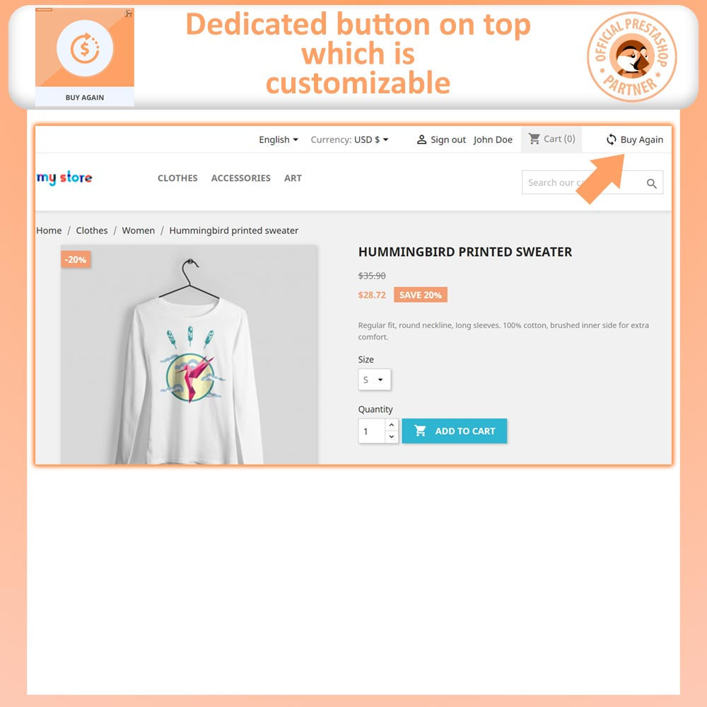 module - Payment - Buy Again - One Click Reorder - 2