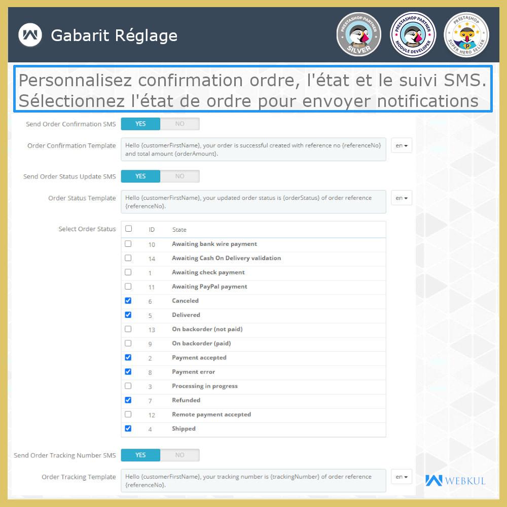 module - Newsletter & SMS - Notification SMS | Mises jour commandes temps réel - 1