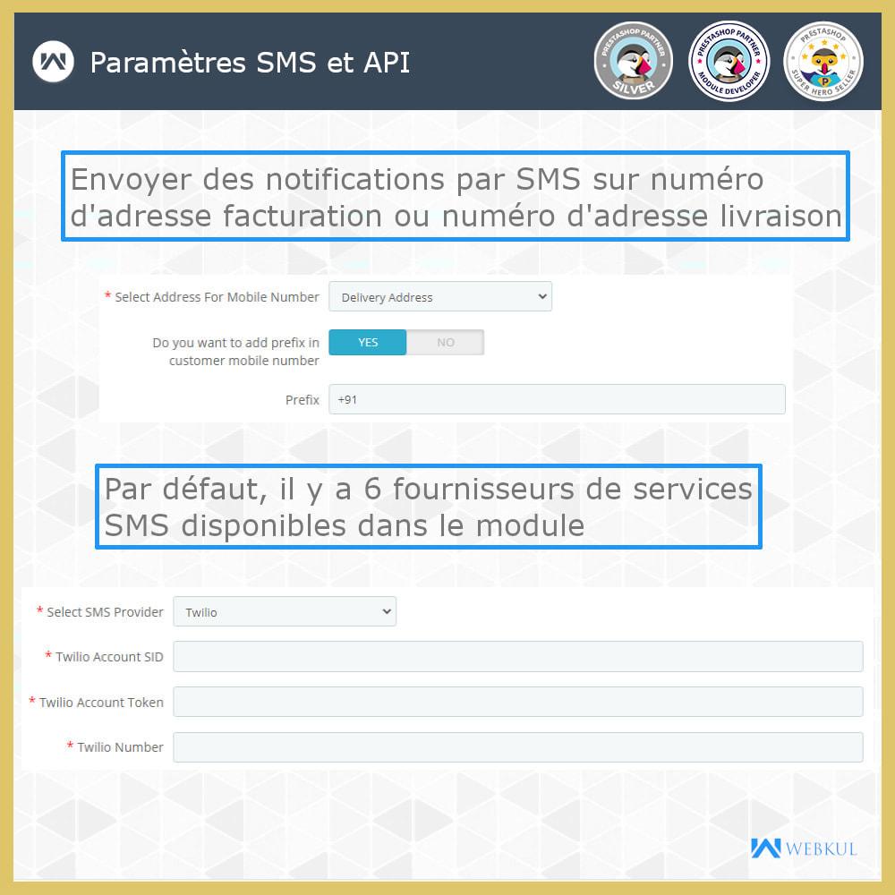 module - Newsletter & SMS - Notification SMS | Mises jour commandes temps réel - 2