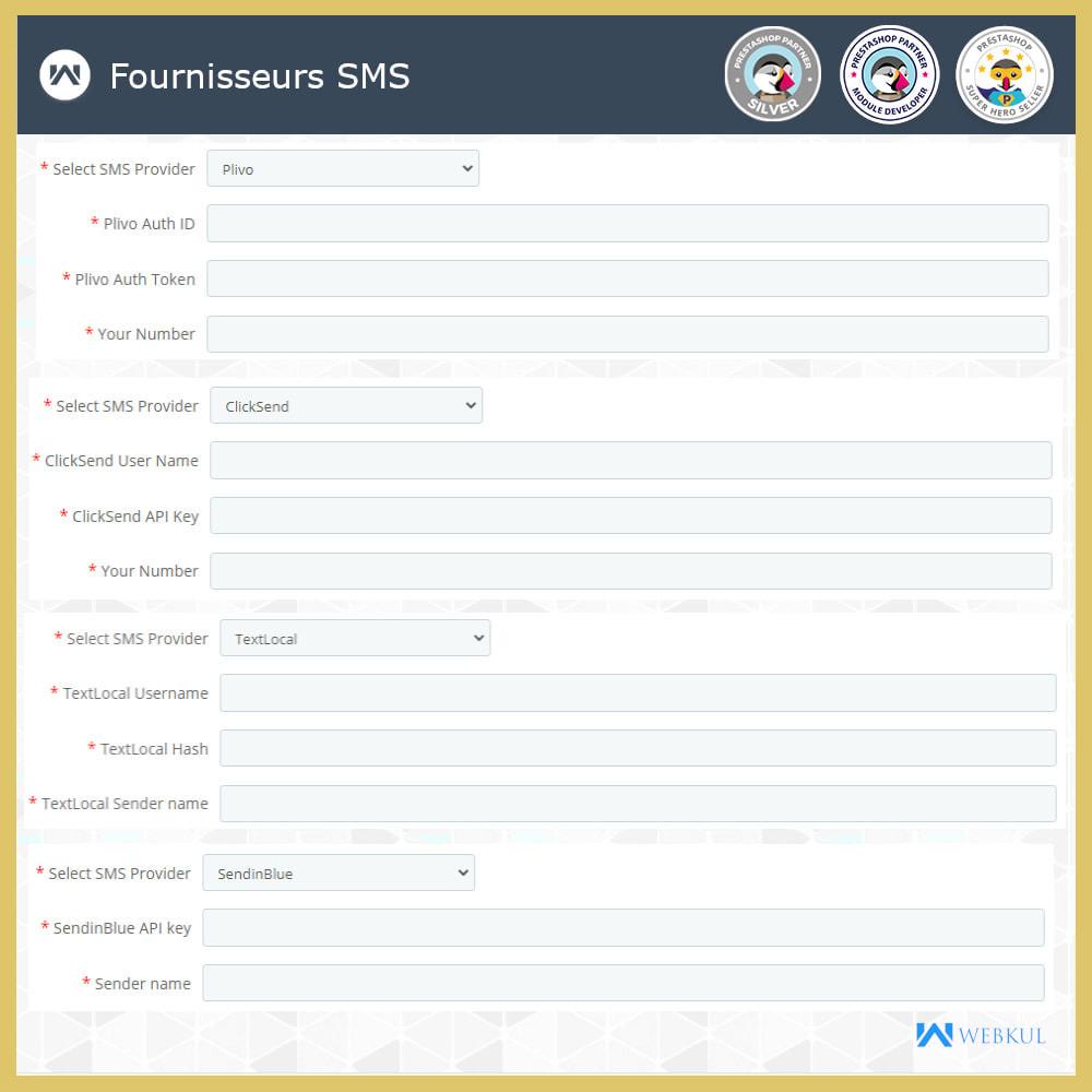 module - Newsletter & SMS - Notification SMS | Mises jour commandes temps réel - 3