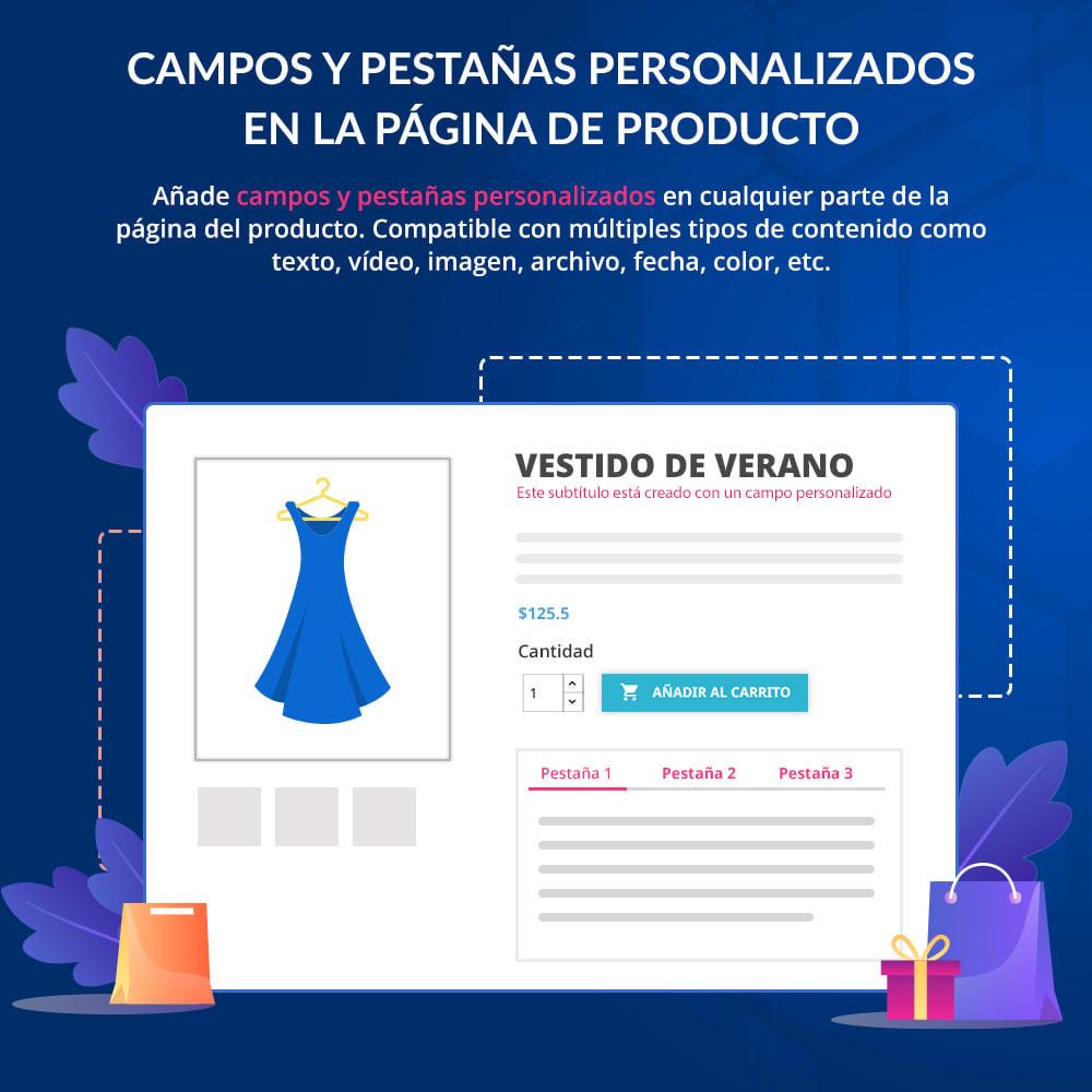 module - Informaciones adicionales y Pestañas - Campos/pestañas personalizados en la página de producto - 1