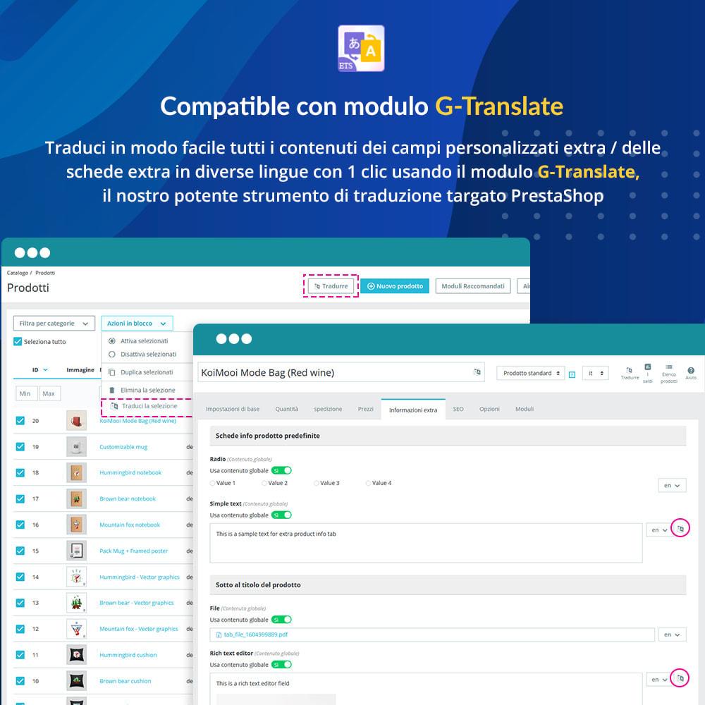module - Altre informazioni & Product Tab - Campi e schede personalizzati sulla pagina del prodotto - 7