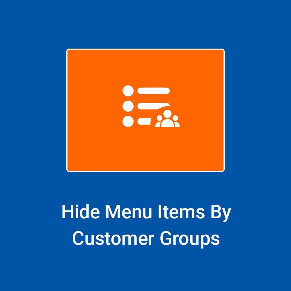 module - Kundenverwaltung - Hide Menu Items by Customer Groups - 1