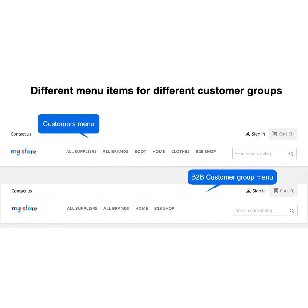 module - Kundenverwaltung - Hide Menu Items by Customer Groups - 2