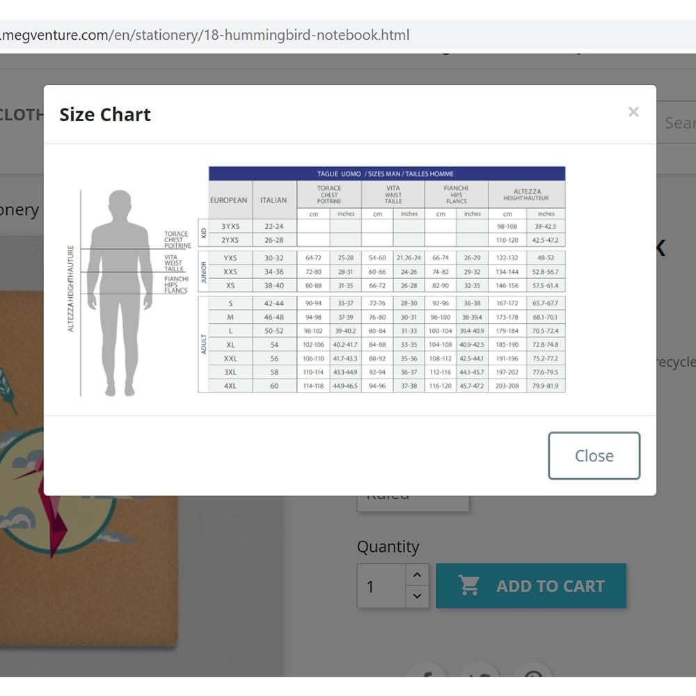 module - Omvang en eenheden - Size Chart (Guide) - 2