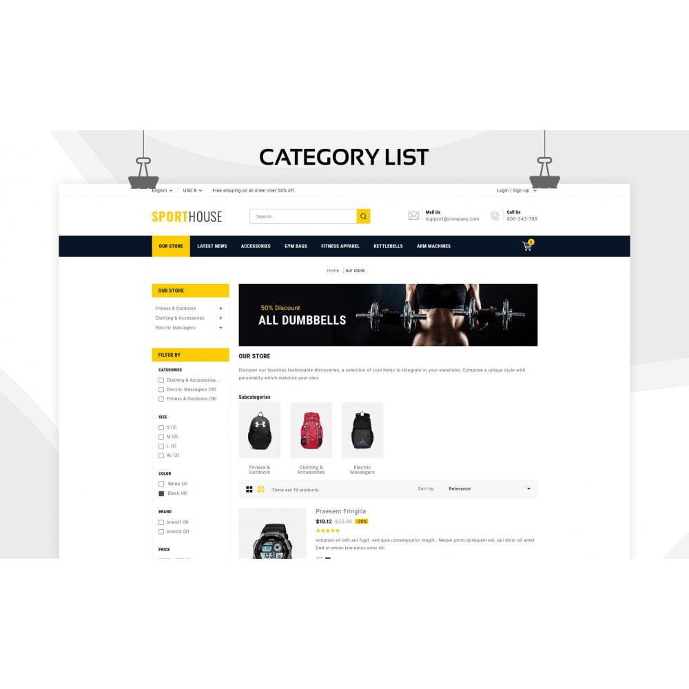 theme - Спорт и Путешествия - Sport House Online Sports Store - 8