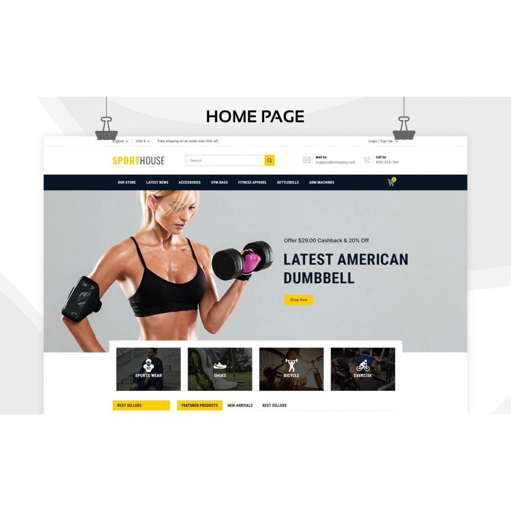 theme - Deportes, Actividades y Viajes - Sport House Tienda de deportes en línea - 3