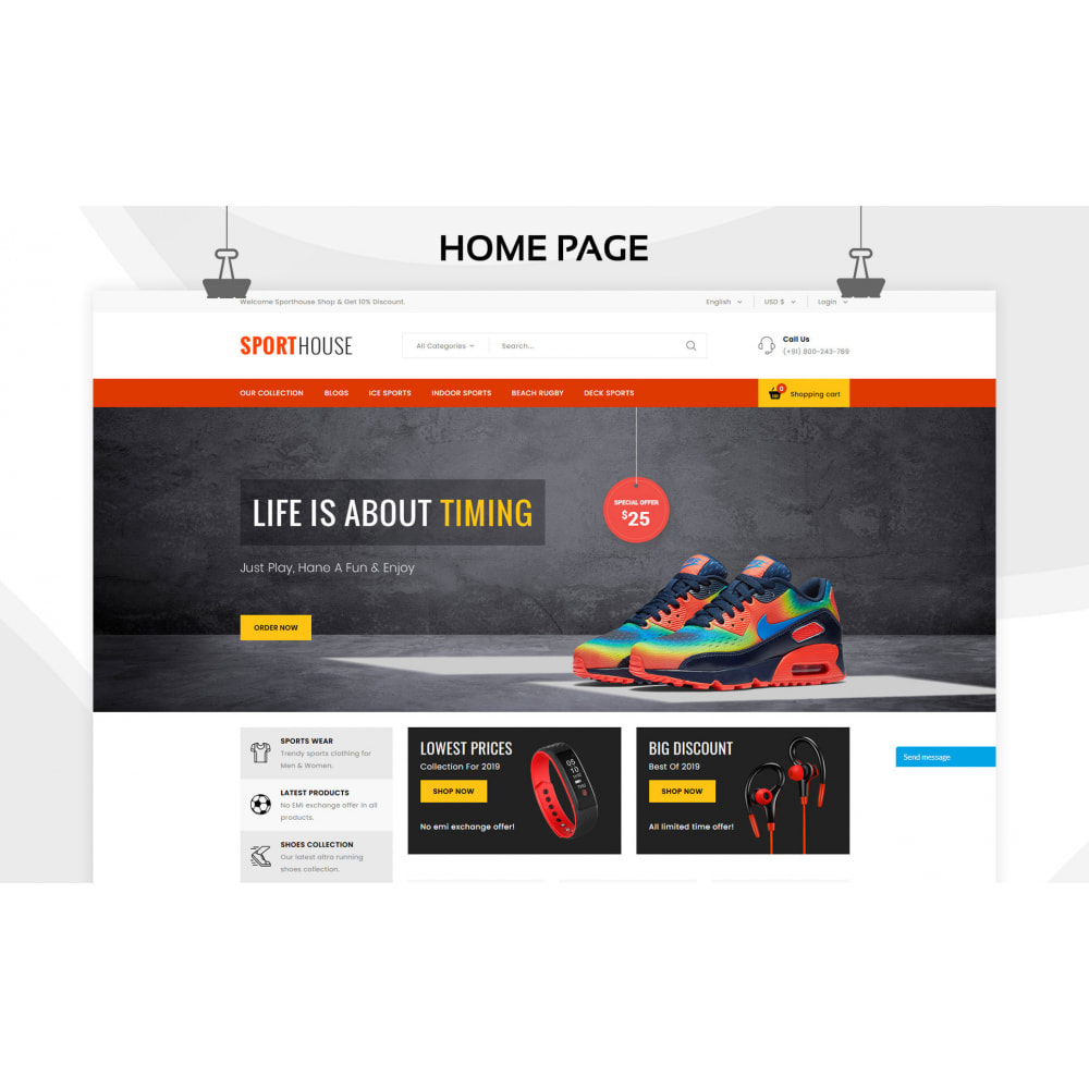 theme - Deportes, Actividades y Viajes - Sport House Tienda de deportes en línea - 4