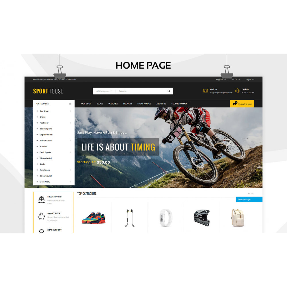 theme - Sport, Attività & Viaggi - Sport House Negozio di articoli sportivi online - 5
