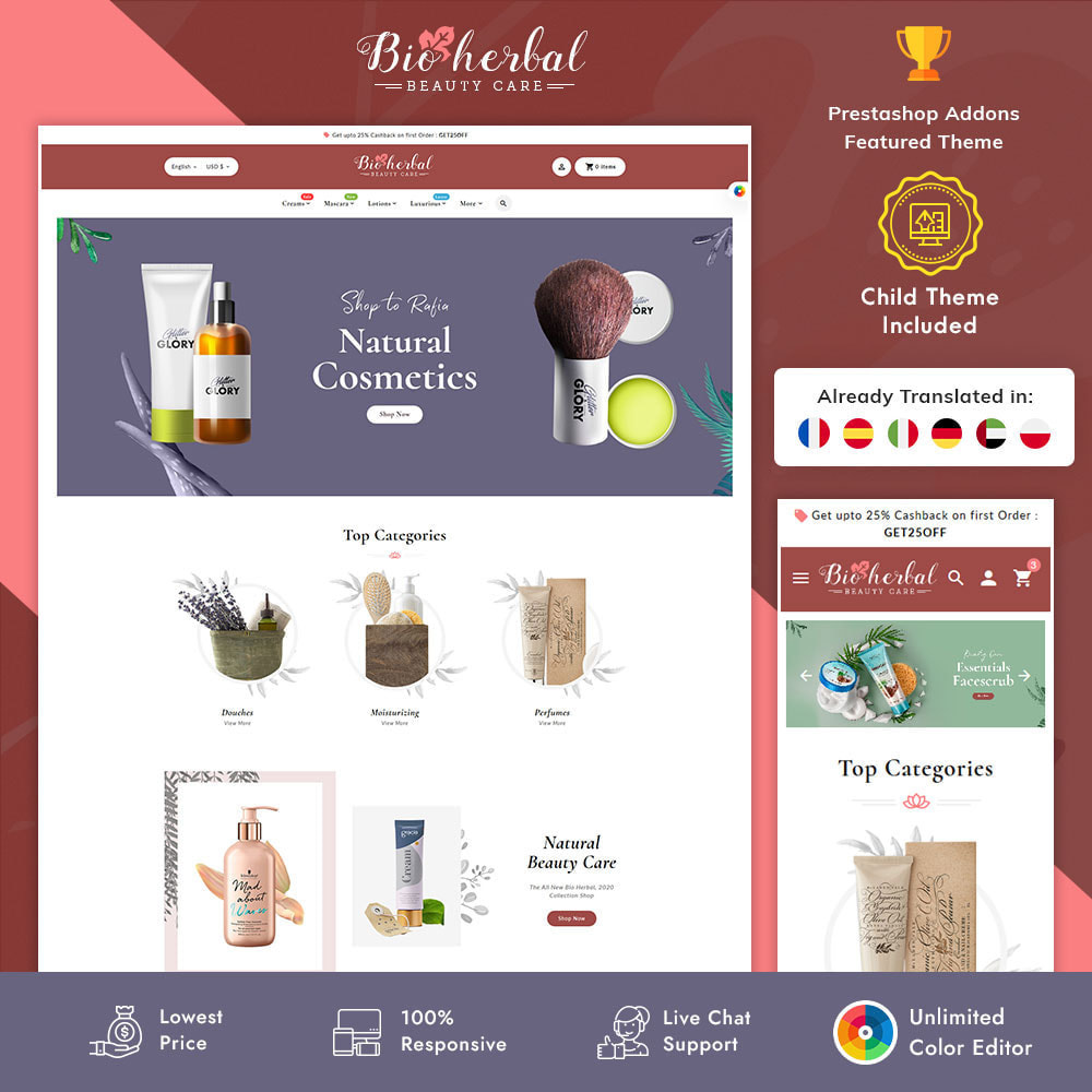theme - Gesundheit & Schönheit - Bio Herbal - Beauty Care - 1