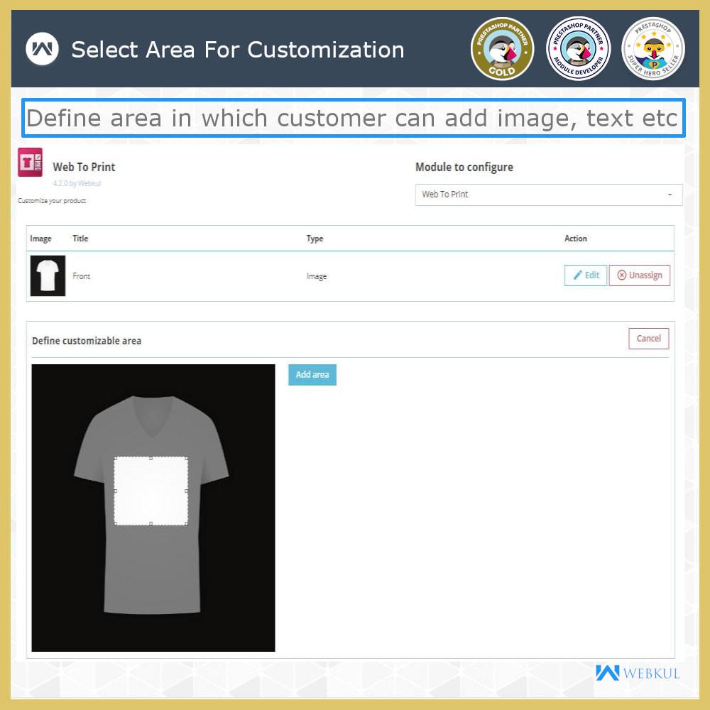 module - Versies & Personalisering van producten - Web to Print -  Product Customize - 11