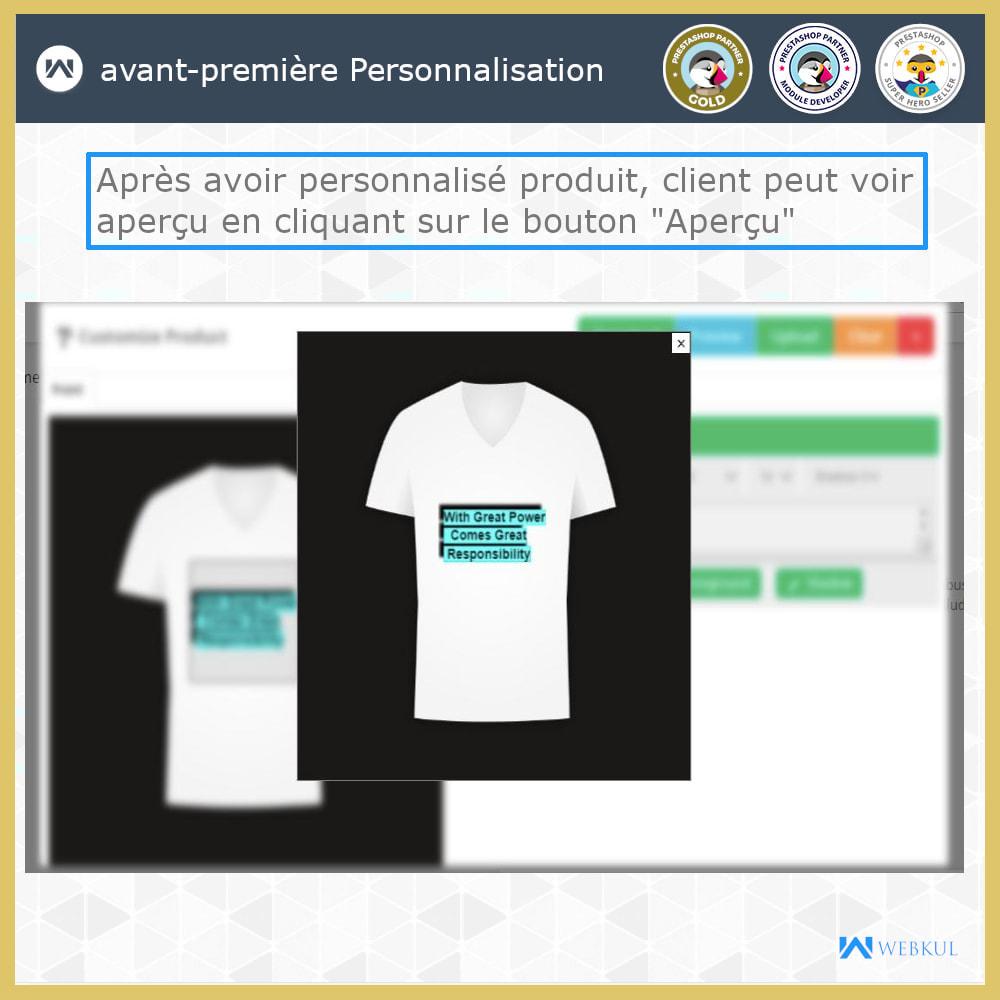 module - Déclinaisons & Personnalisation de produits - Web à Imprimer - Personnaliser le Produit - 2