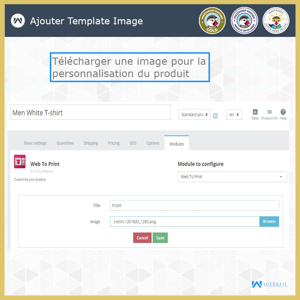 module - Déclinaisons & Personnalisation de produits - Web à Imprimer - Personnaliser le Produit - 8