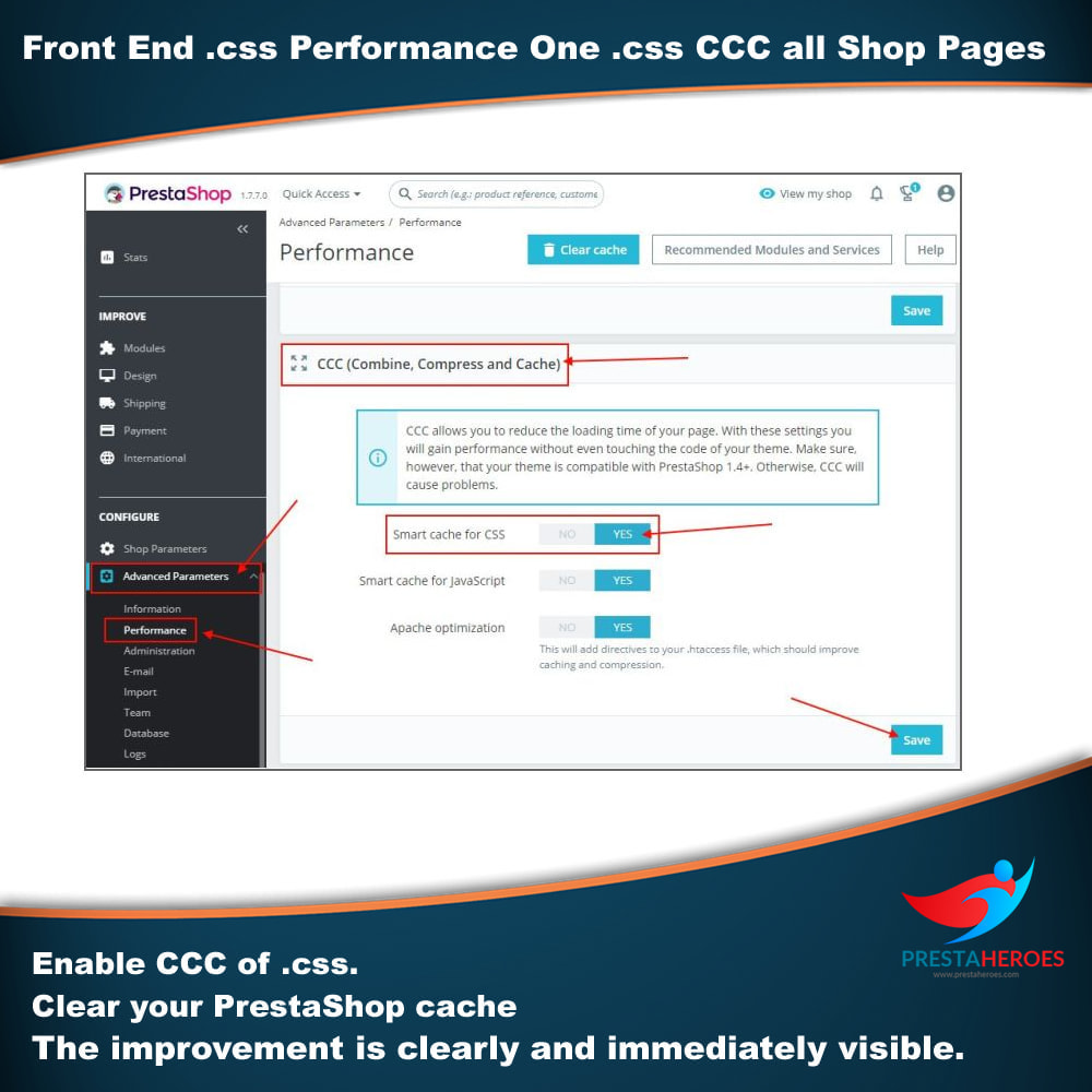 module - Wydajnośc strony - Front End .css Performance One .css CCC all Shop Pages - 3