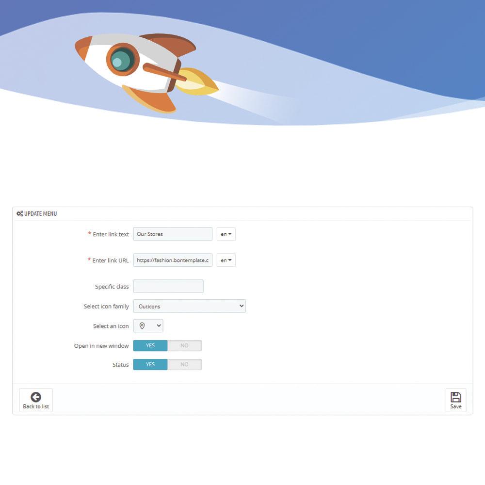 module - Menu - Menu & Navigation with Custom Font Icons - 2