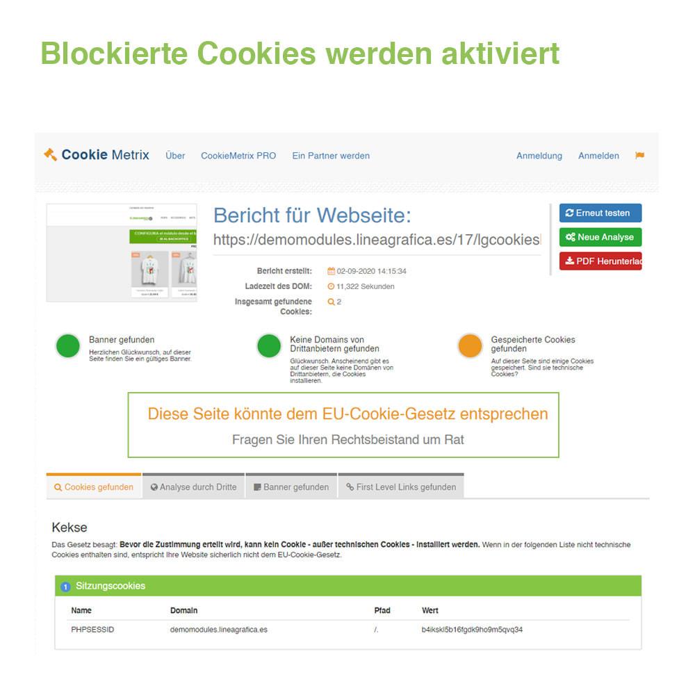 module - Rechtssicherheit - Cookie GDPR (Benachrichtigungs + Blocker) - 2021 Update - 20
