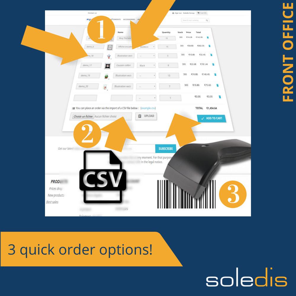 module - Anmeldung und Bestellvorgang - B2B : Quick Order by Form or CSV - 1