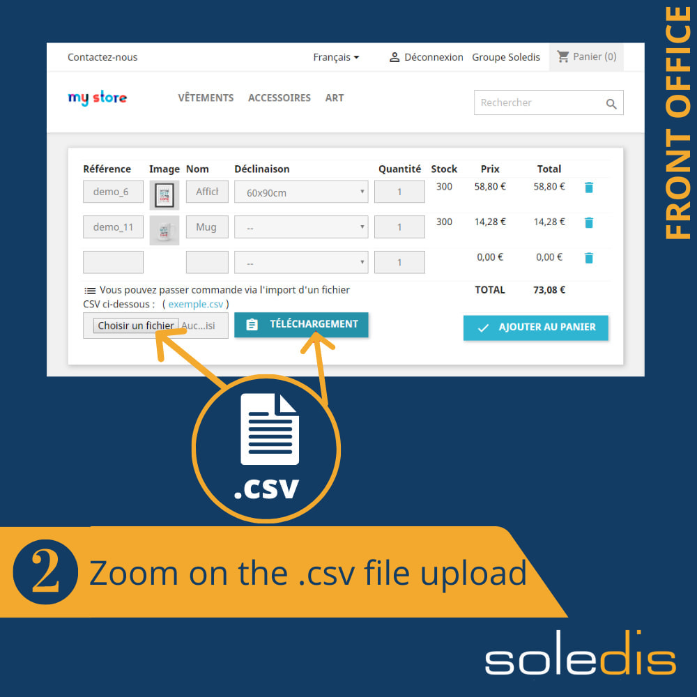 module - Anmeldung und Bestellvorgang - B2B : Quick Order by Form or CSV - 3