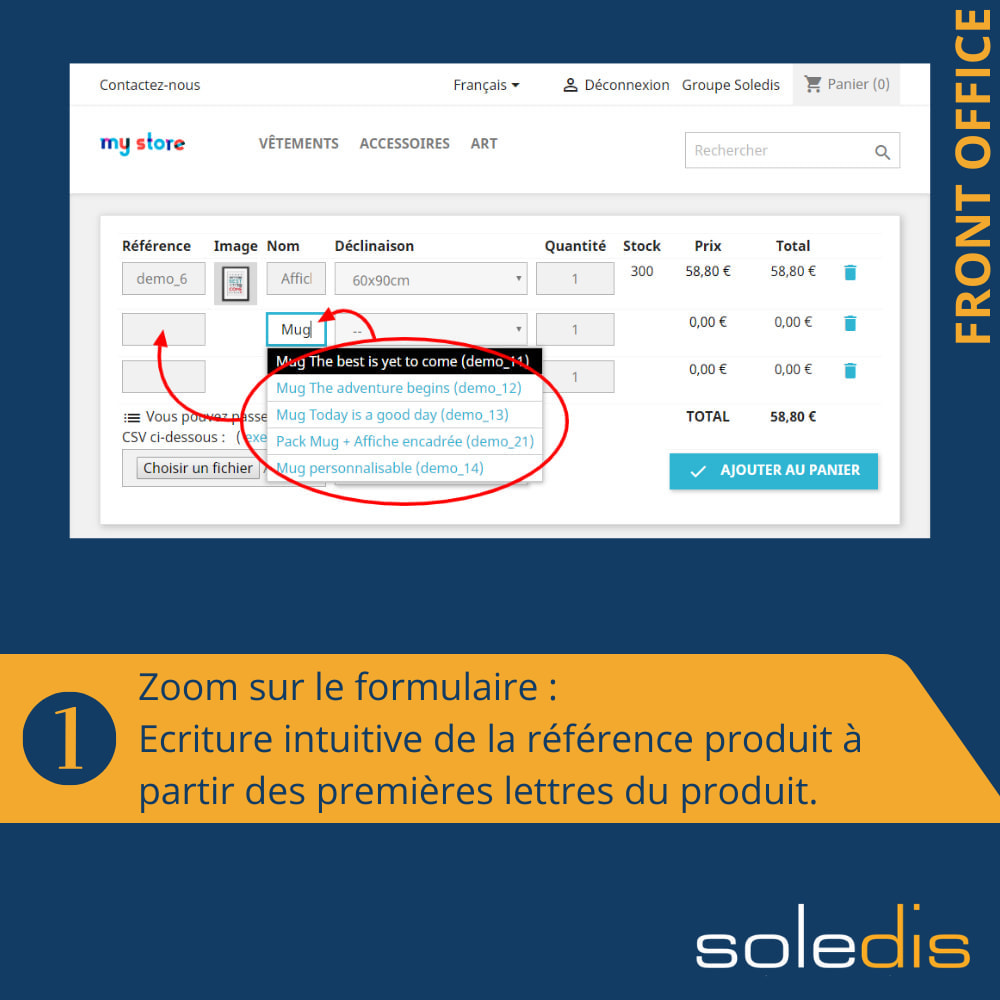 module - Inscription & Processus de commande - B2B : Quick Order by Form or CSV - 2
