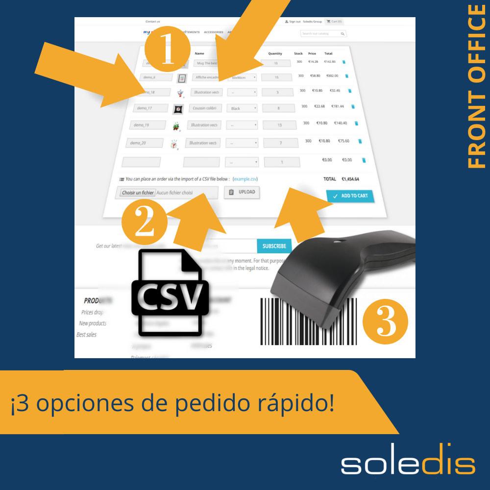 module - Inscripción y Proceso del pedido - B2B : Pedido rápido por formulario o archivo CSV - 1