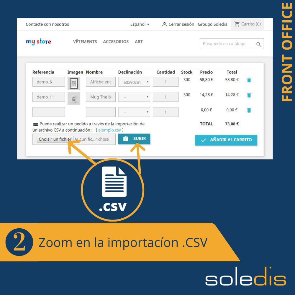 module - Inscripción y Proceso del pedido - B2B : Pedido rápido por formulario o archivo CSV - 3