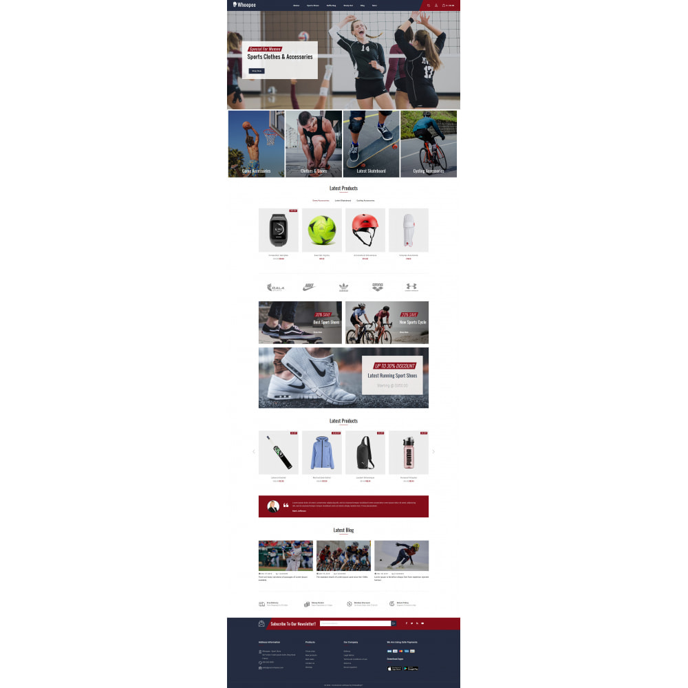 theme - Sports, Activities & Travel - Whoopee - Sport Store - 2