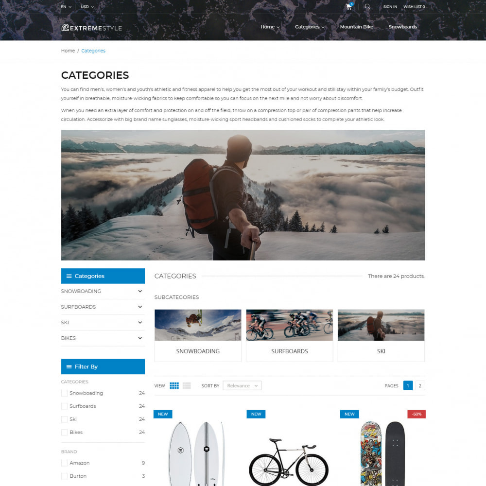 theme - Sports, Activities & Travel - ExtremeLife - Sport Store - 3