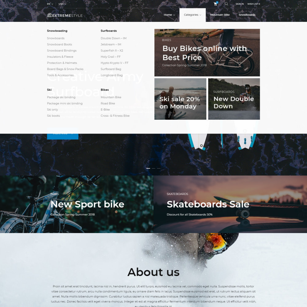 theme - Sports, Activities & Travel - ExtremeLife - Sport Store - 5