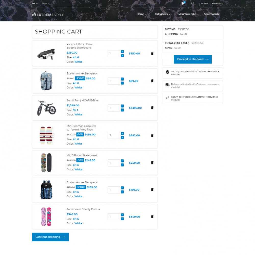 theme - Sports, Activities & Travel - ExtremeLife - Sport Store - 6