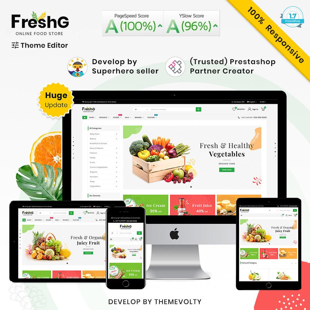 theme - Żywność & Restauracje - FreshG Mega Grocery–Food Drink–Coffee Super Store v3 - 1
