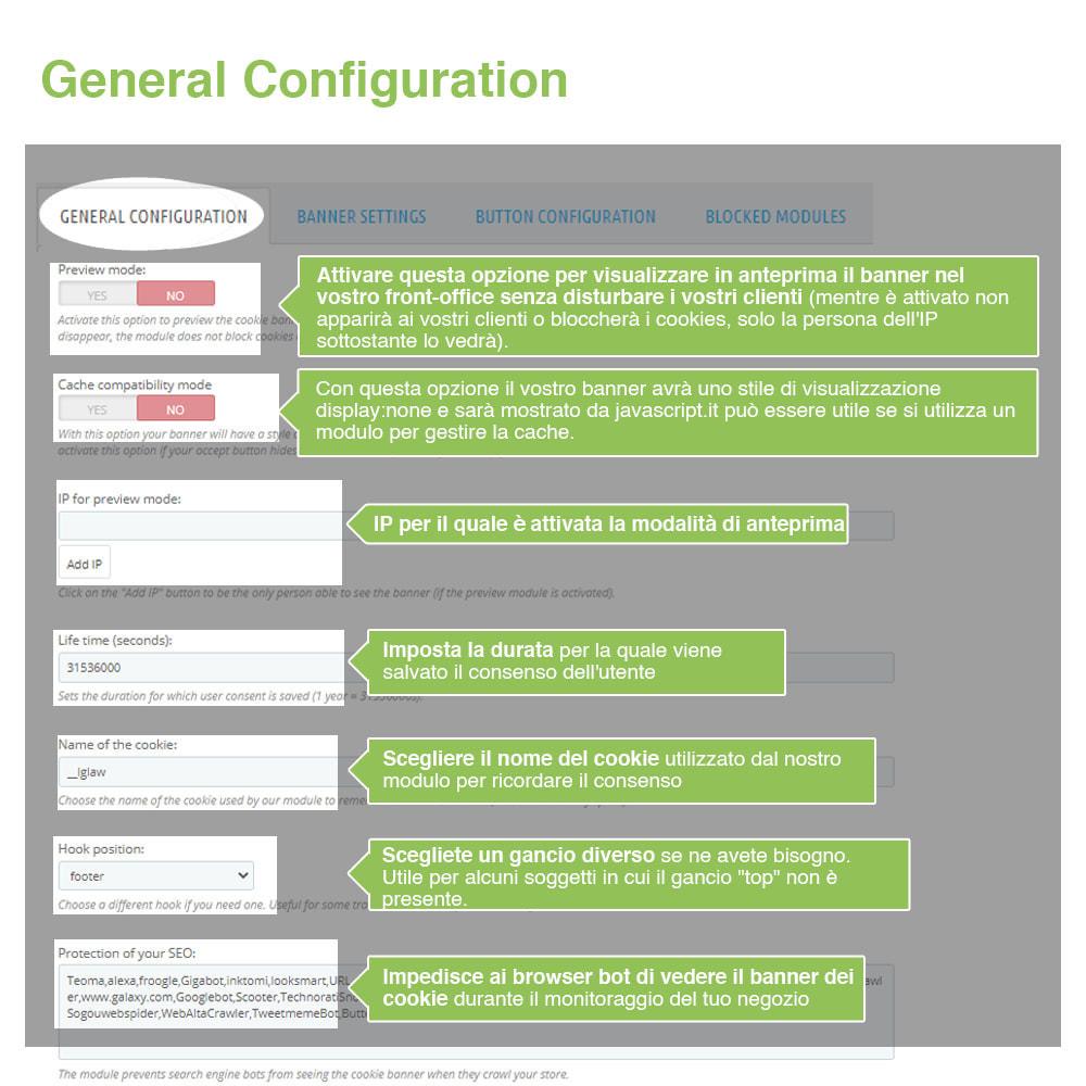 module - Legale (Legge Europea) - Legge Cookies RGPD (Avviso + Blocker) - Upgrade 2021 - 13