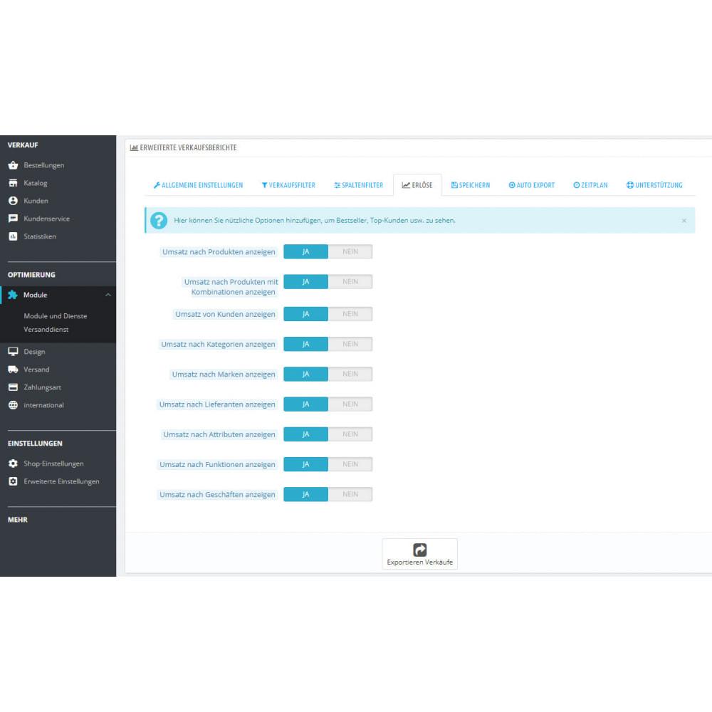 module - Daten Im-&Export - Beste Verkaufsberichte & Buchhaltungsexporte - 6
