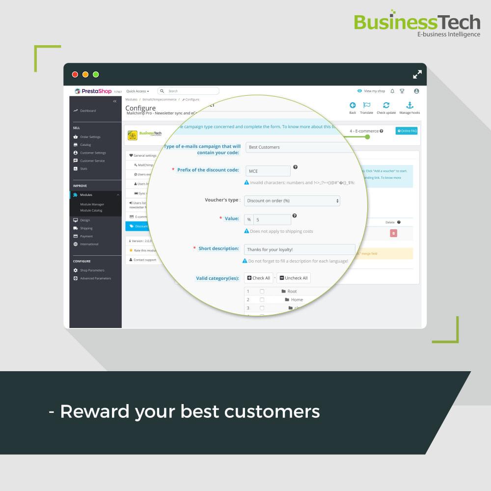 module - Перенаправление и Брошенные корзины - Newsletter & Marketing automation with Mailchimp - 5