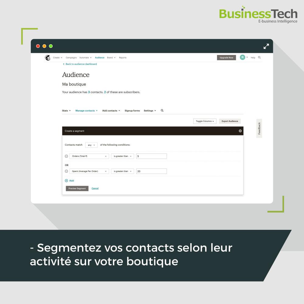 module - Remarketing & Paniers Abandonnés - Newsletter & Marketing automation avec Mailchimp - 3