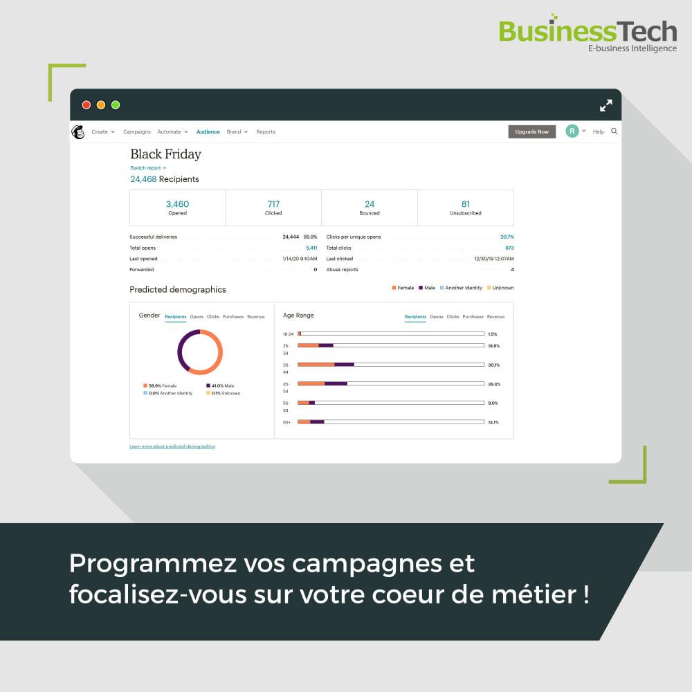module - Remarketing & Paniers Abandonnés - Newsletter & Marketing automation avec Mailchimp - 7