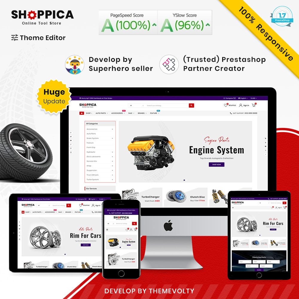 theme - Samochody - Shoppica Mega Spare–Parts & Cars–Tools Super Store v3 - 1