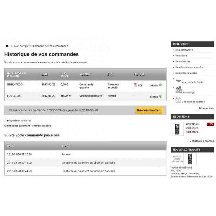 module - Iscrizione e Processo di ordinazione - Cancel Order - 3
