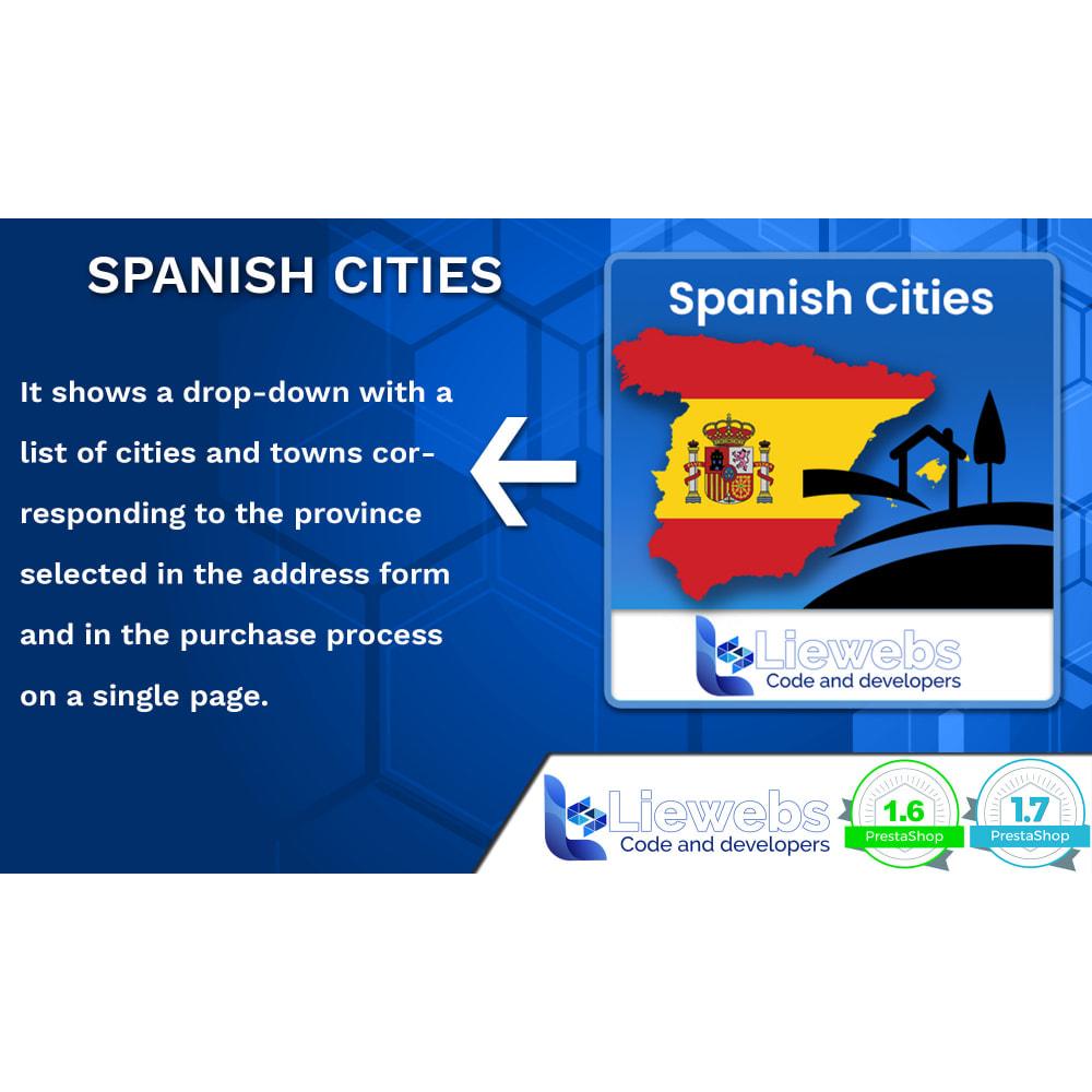module - Internacional & Localização - Spanish Cities (Spanish cities, towns, villages) - 1