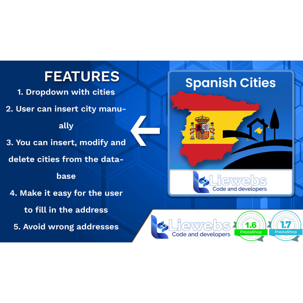 module - Internacional & Localização - Spanish Cities (Spanish cities, towns, villages) - 2