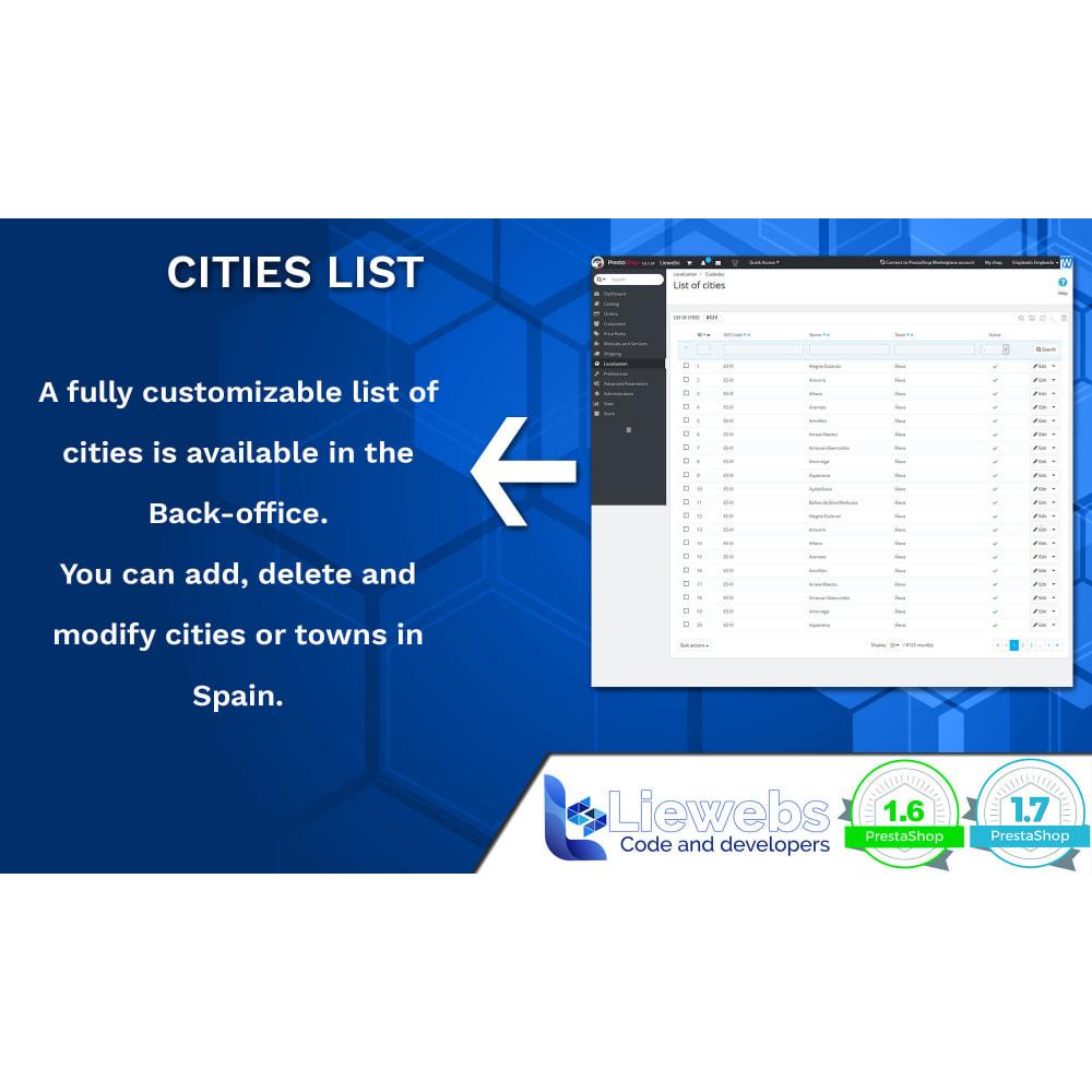 module - Internacional & Localização - Spanish Cities (Spanish cities, towns, villages) - 3