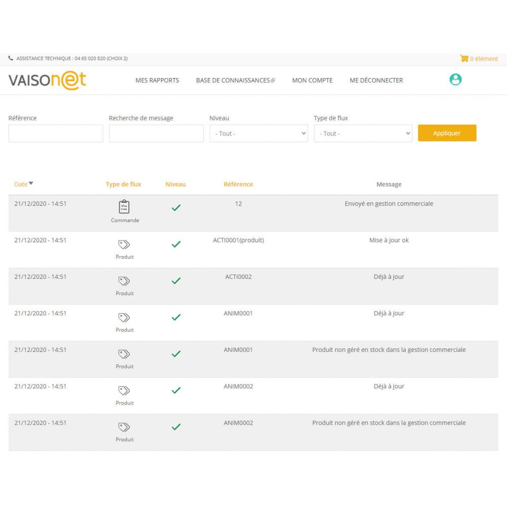 module - Administration - Econnecteur gestion commerciale EBP Sage Wavesoft Cegid - 1