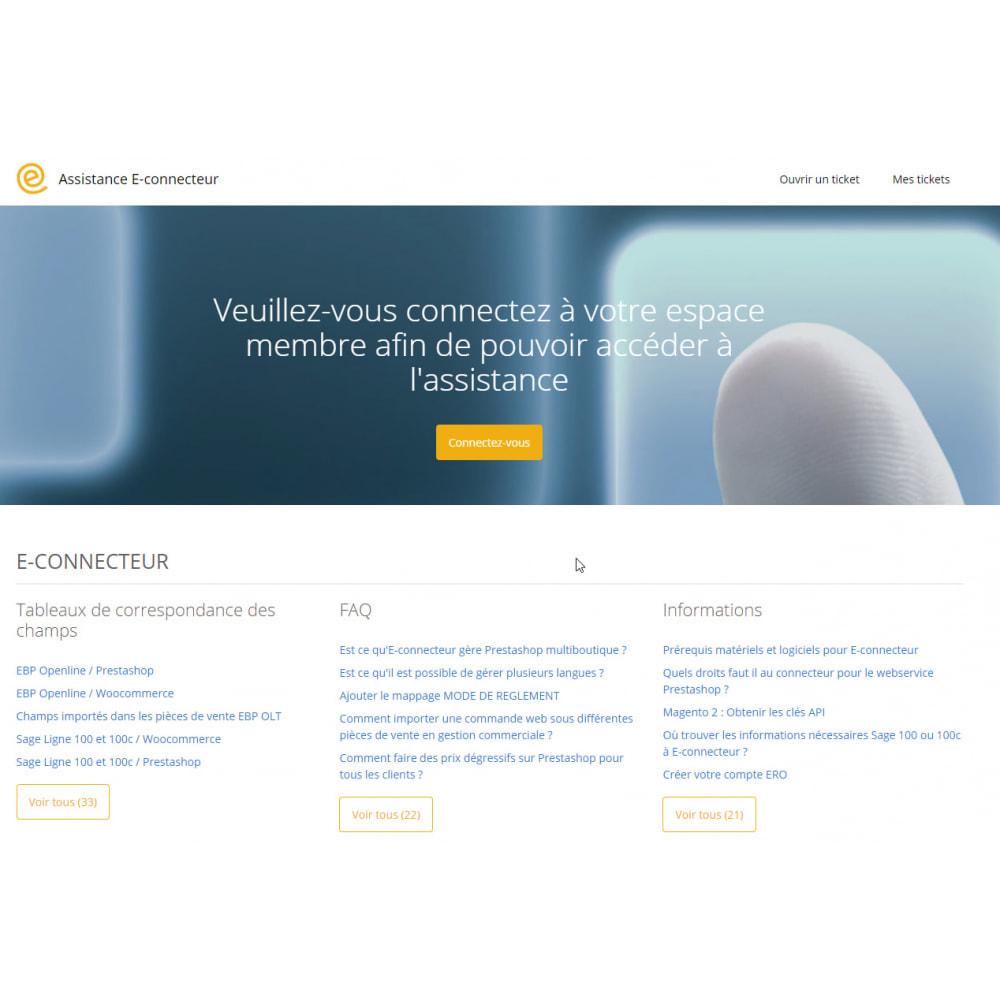 module - Administration - Econnecteur gestion commerciale EBP Sage Wavesoft Cegid - 3