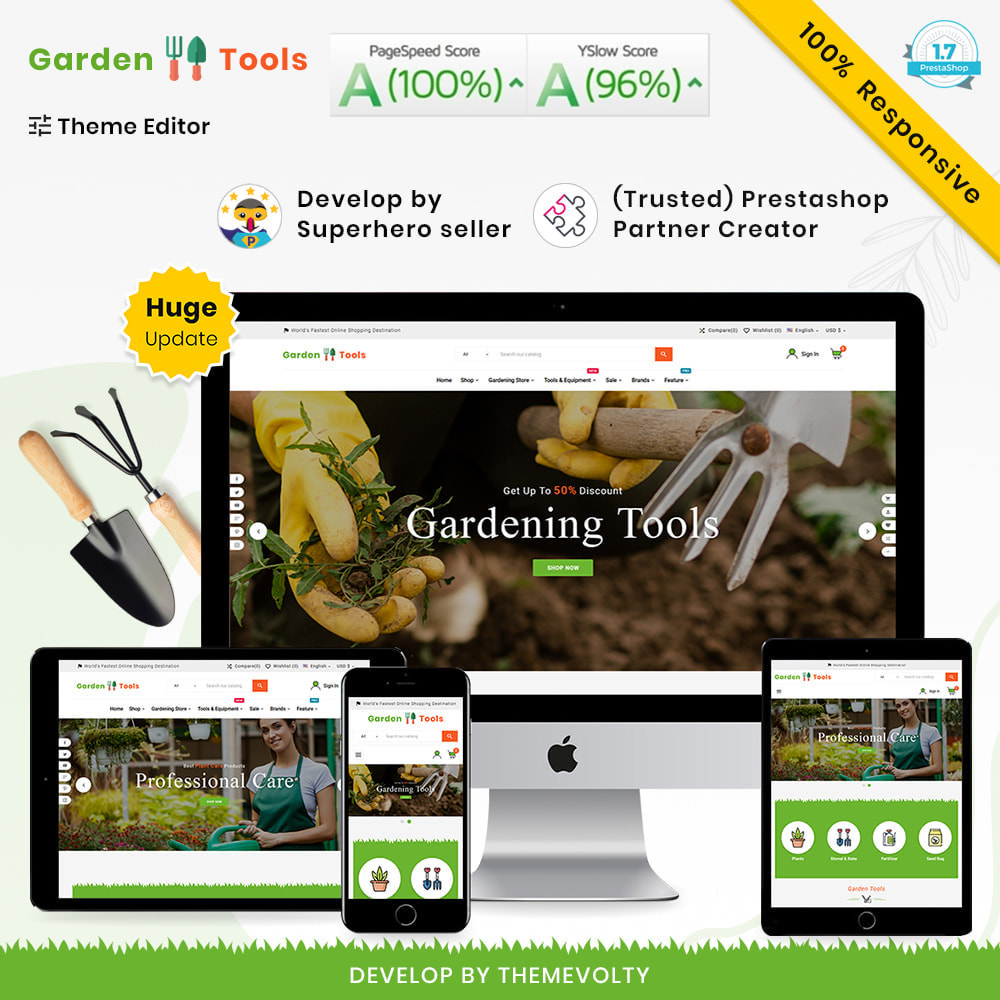 theme - Dom & Ogród - Gardening Mega Garden–Tools Blooming–Plants Store - 1