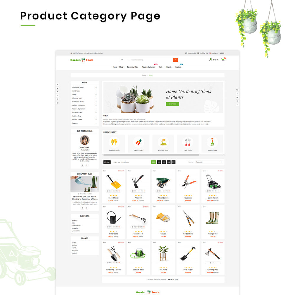 theme - Dom & Ogród - Gardening Mega Garden–Tools Blooming–Plants Store - 3