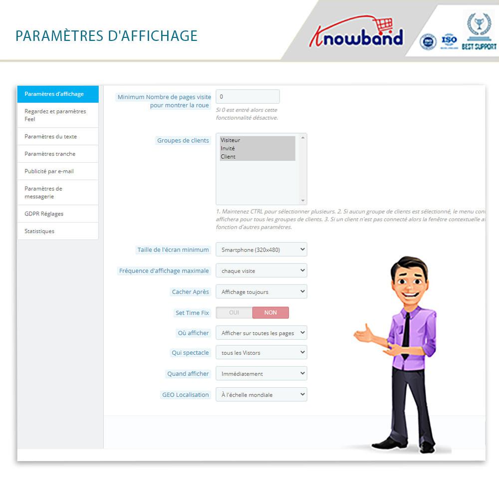 module - Promotions & Cadeaux - Knowband-Popup d'Entrée et Inscription-Tournez & Gagnez - 5